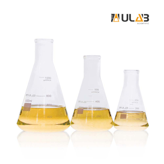 ULAB Scientific Narrow-Mouth Glass Erlenmeyer Flask Set, 3 Sizes 250ml 500ml 1000ml, 3.3 Borosilicate with Printed Graduation, UEF1022