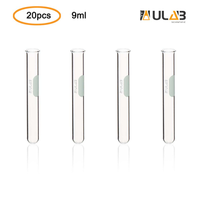 ULAB Scientific Glass Test Tube with Rim, Shot Glass, Cocktail Party Tubes, Cap.9ml, 13x100mm, 3.3 Borosilicate Glass Material, Pack of 20, UTT1007