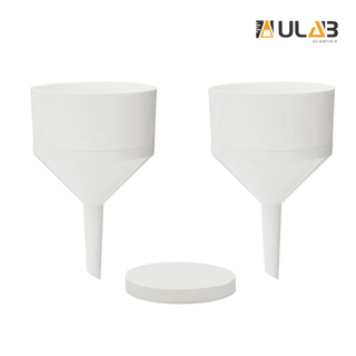ULAB Scientific Buchner Two-Piece Funnel Set, 2pcs of Buchner funnels, Dia. 105mm, Plastic Material, 1 Box of Qualitative Filter Paper, Dia.90mm, Medium Speed, UGF1007