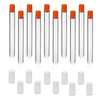 ULAB Scientific Glass Test Tubes with PE Flange Stoppers, Vol.16ml, 16x150mm, Extra Autoclavable PP Tube Closures Offered, Pack of 10, UTT1001