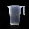 ULAB Half Handle Plastic Measuring Beaker, Vol. 3000ml, with Spout and Molded Graduation, UBP1011